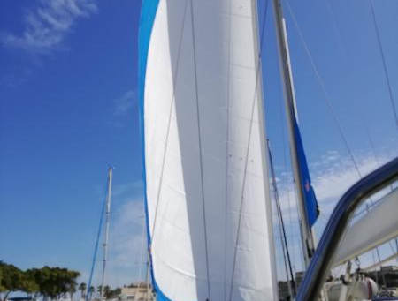 Rigging Of New Elvstrom Sails Supplied By Yachting Partners Malta.