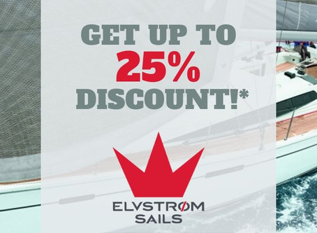 Get Up To 25% On Your New Elvstrom Sails!