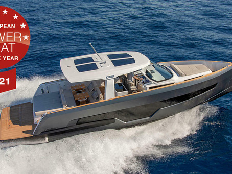 """FJORD 41 XL wins European Powerboat of the Year 2021 in the """"Yachts up to 14 meters"""" class"""