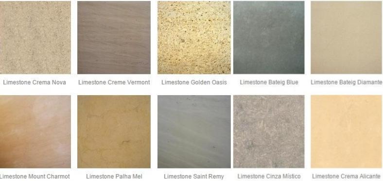 Tipos de Pedras Limestone