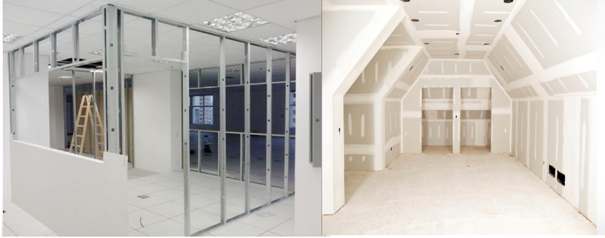 sistema drywall paredes