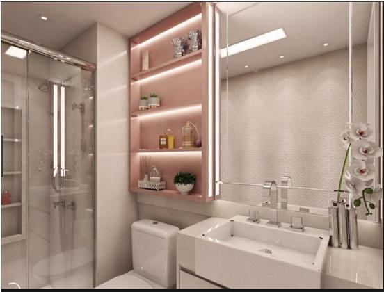 Decoração para banheiros tons claros