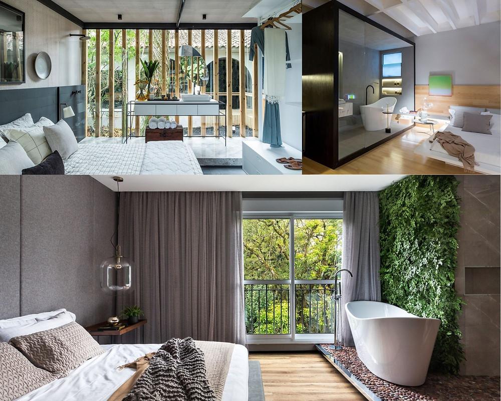 Espaço para o banheiro integrado ao dormitório