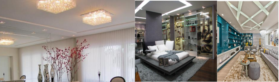 iluminação forro de gesso placas drywall