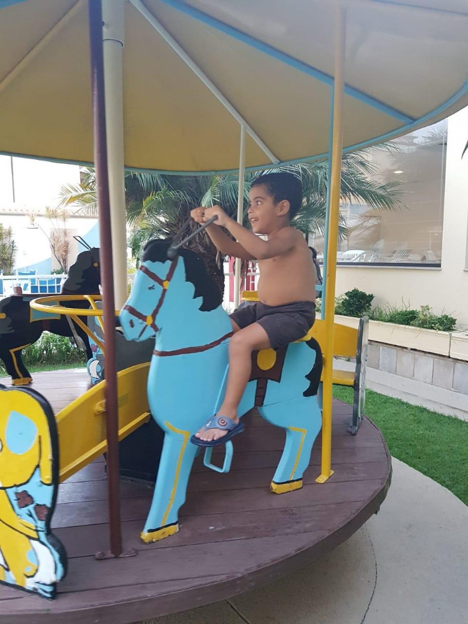 Um dos brinquedos do Playground do hotel