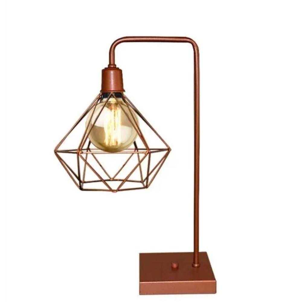 luminária de mesa aramado retro