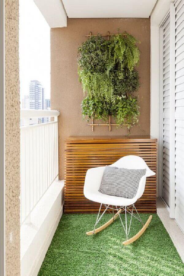 cadeira de balanço na decoração varanda