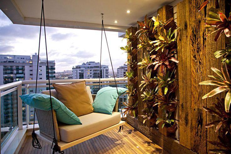 cadeira de balanço na decoração balanço suspenso varanda