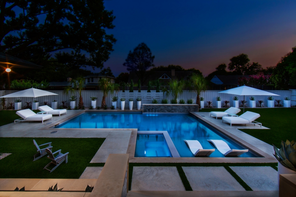 North Dallas Modern L-Shape Pool