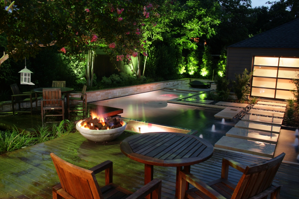 Dallas Highland Park Modern Zen Pool