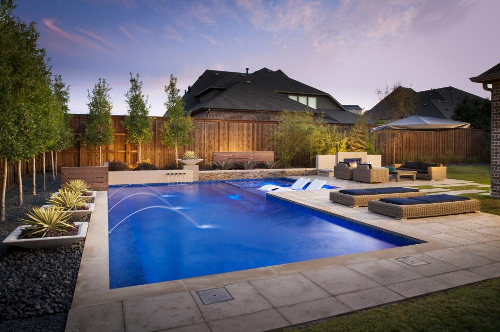 Las Colinas Modern L-Shape Pool