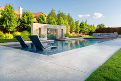 West Plano Clean Modern Pool + Fire