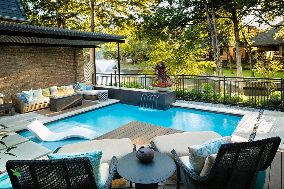 Pool Remodel Dallas Interior Outdoor Design  Dallas  Randy Angell Designs