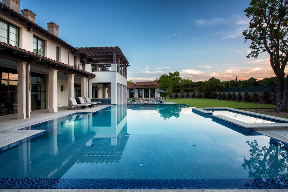 Transitional Infinity Pool + Spa