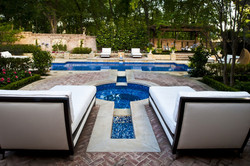 Dallas Transitional Pool & Spa