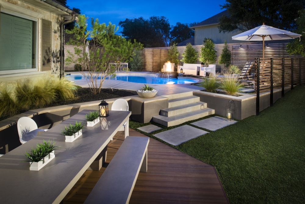 Plano, TX Modern Swimming Pool Reno