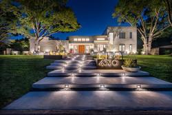North Dallas Full Property Modern Landscape Design + Pool