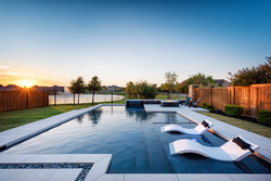 The Colony, TX - Modern Linear Pool and Fire Pit