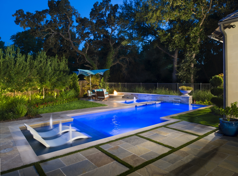 Coppell, TX Transitional Modern Pool