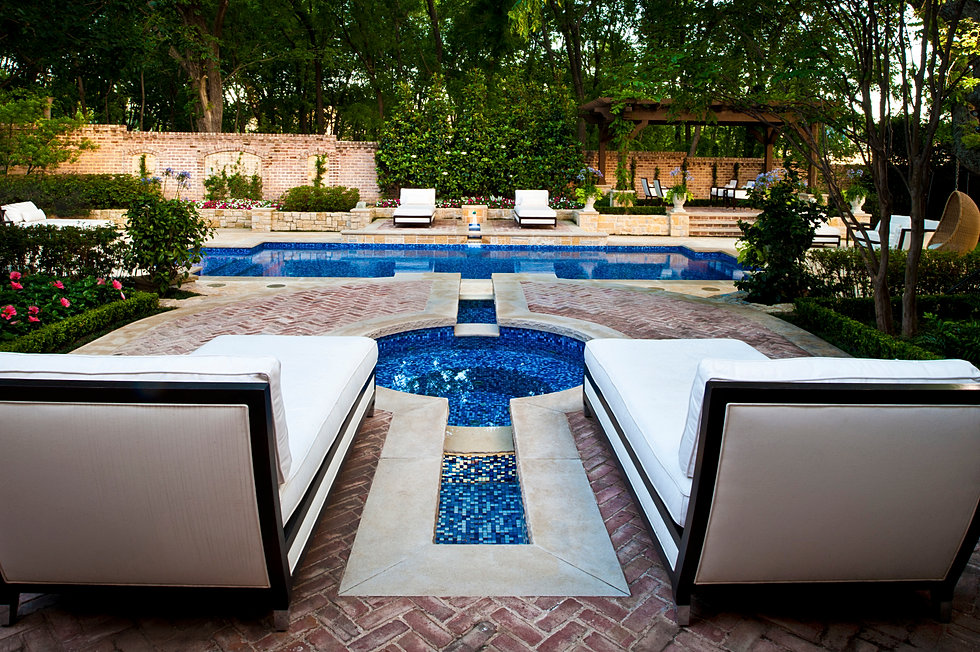 Dallas Transitional Pool Spa