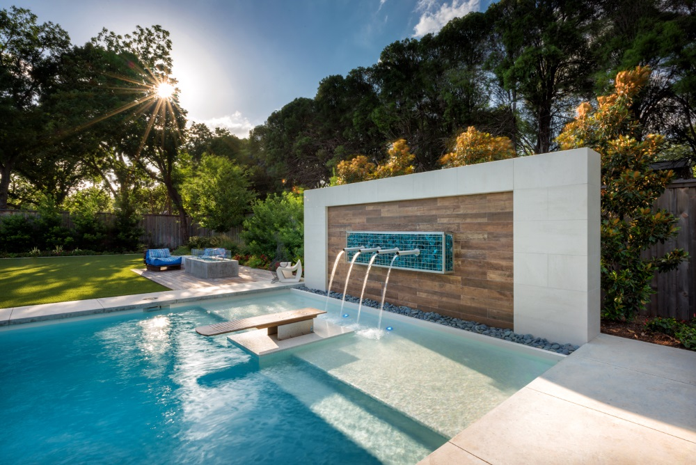 Randy Angell Designs Dallas Outdoor Living Swimming Pool Design