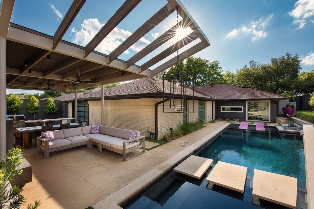 Prestonwood Modern Pool + Cabana