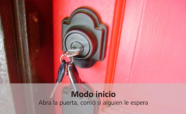 Alarma abre la puerta