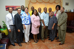 Conference pastors with NCU guests