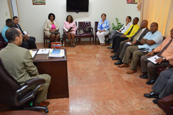 Pastor O'Connor chairs a pastors' meeting