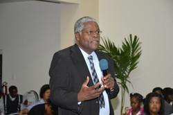 Kings Elder Edris Ocho at the Q & A