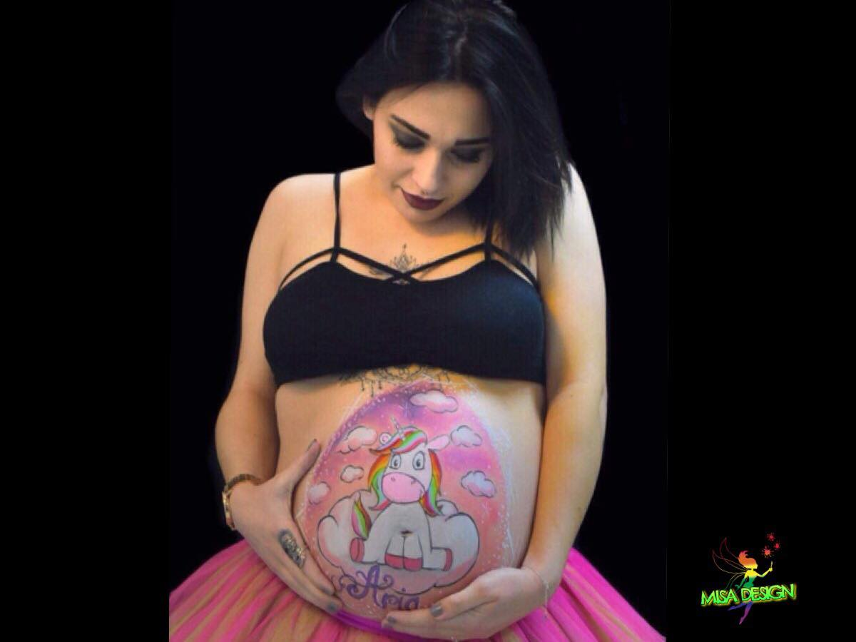 Belly Painting Mandy