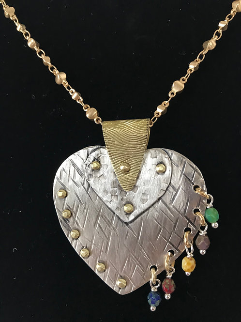 Decorated Heart Necklace