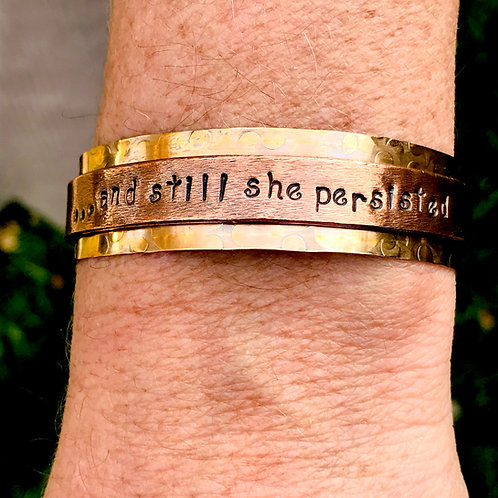 Bronze & Copper Statement Cuff