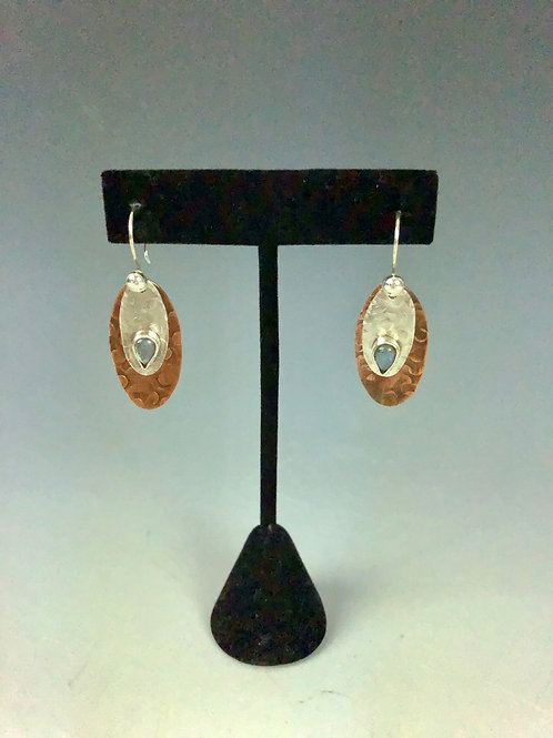 Layered Oval Earrings