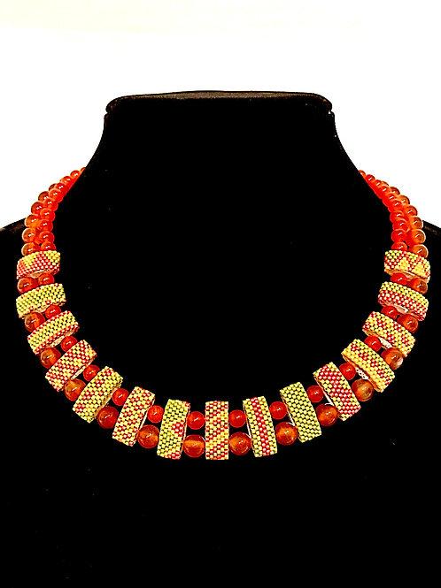 Carrier Bead Necklace - Carnelian