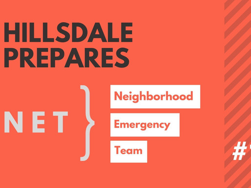 Hillsdale NET Emergency Preparedness, Part 1: Home Inventory