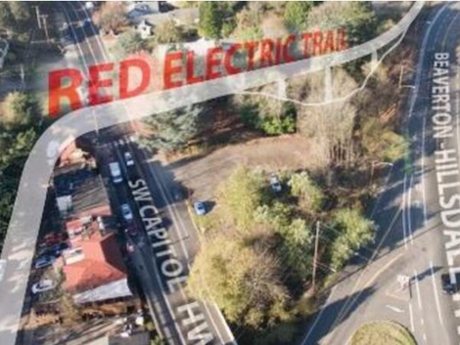Red Electric Bridge, New Trail Signs