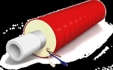 Трубы напорные гофрированные предварительно изолированные пенополиуретаном в полиэтиленовой оболочке