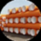 полпропиленовые гофрированные трубы корекс, трубы COREX, оранжевые трубы для канлизации и водоотведения КОРЕКС