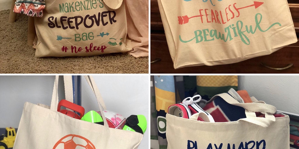 Teen Night Out- Tote Bags w/ Wooden Loft