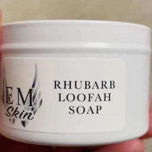 Rhubarb & Hempseed Loofah Soap Bar