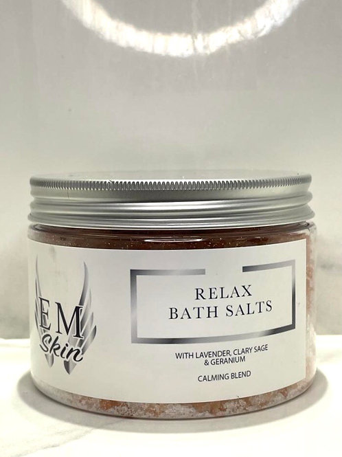 Relax Detox Bath Salts with Lavender, Clary Sage & Geranium