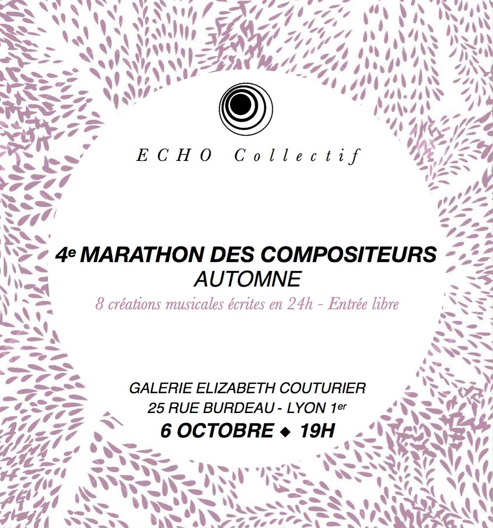Affiche du Marathon des compositeur, automne 2018