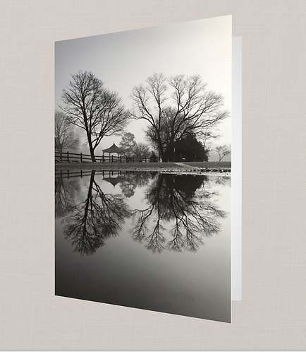 Black & White Reflection Note Card