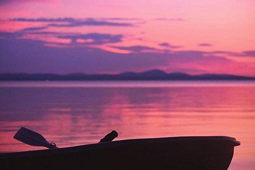 Row Boat Sunrise