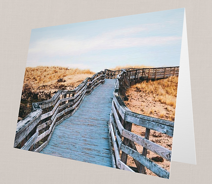 Beach Boardwalk Note Card