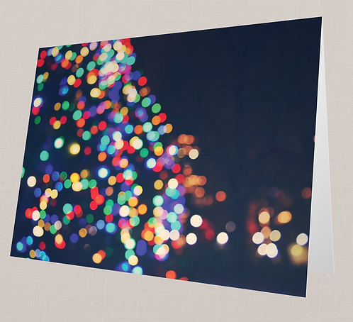 Christmas Lights Note Card