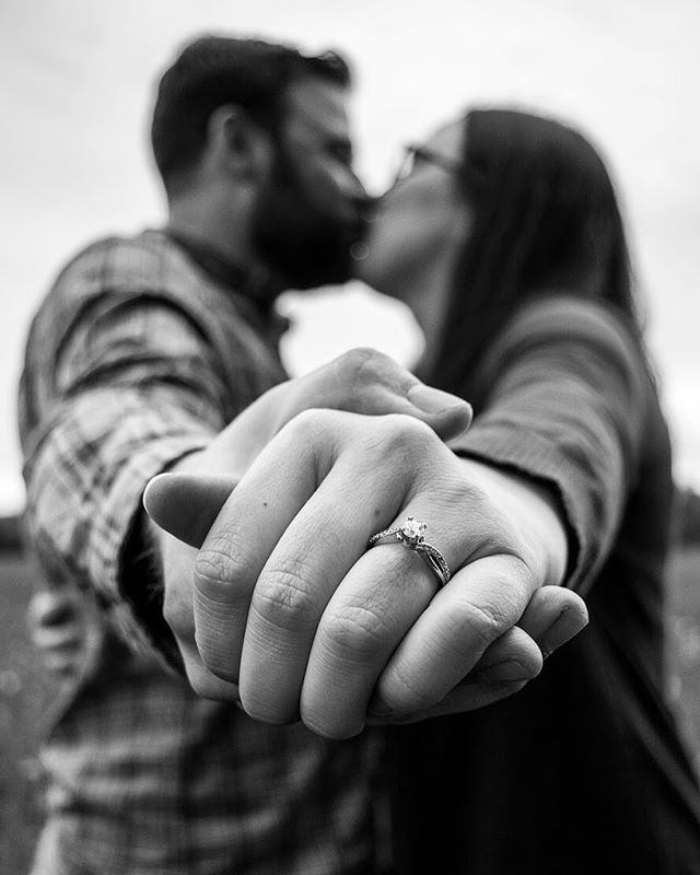 Black and White Engagement Details