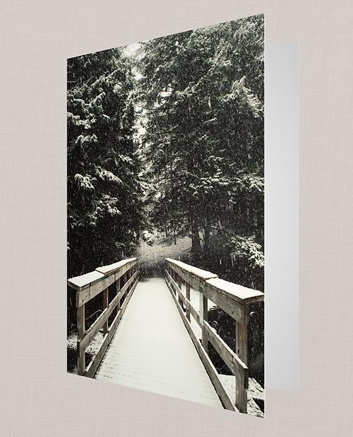Snowy Bridge Note Card