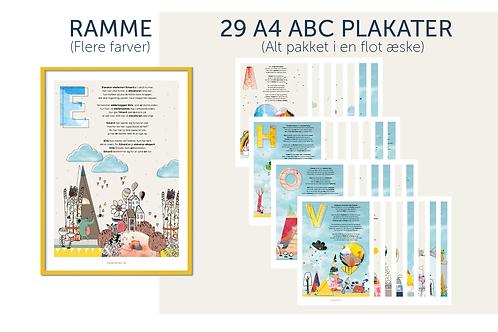 Æske & 29 stk. A4 'A-B-C' + Ramme